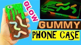 getlinkyoutube.com-DIY GUMMY PHONE CASE Polymer Clay Tutorial - Gummy Slime Phone Case DIY Halloween treats 2016