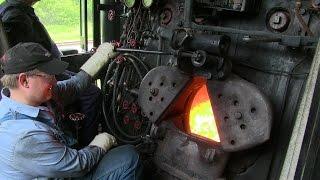 getlinkyoutube.com-Frisco 1630: Steam Engine Operations at Illinois Railway Museum