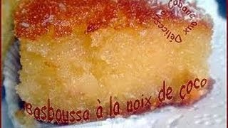 getlinkyoutube.com-basbousa a la noix de coco ,بسبوسة بالكوك