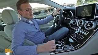 getlinkyoutube.com-Our Test Drive of the New Mercedes-Benz C-Class W205 (German)