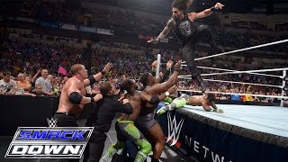 getlinkyoutube.com-Dean Ambrose & Roman Reigns vs. Kane & Seth Rollins: SmackDown, May 28, 2015