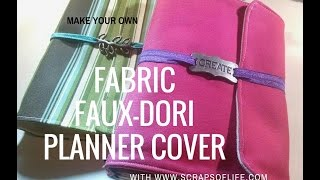 getlinkyoutube.com-Make Your Own Fabric FauxDori Planner Cover