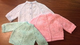 Star Stitch Raglan Baby Jacket by Stitch Niche