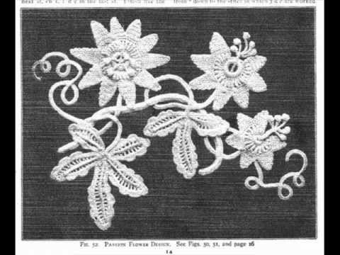 Irish Crochet Lace, Passion Flower motif