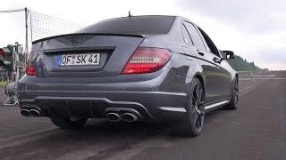 getlinkyoutube.com-Mercedes-Benz C63 AMG - Brutal REVS!