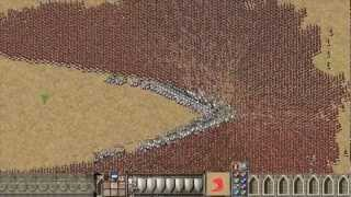 getlinkyoutube.com-Stronghold Crusader: 1000 Knights vs 9000 Arabian Archers