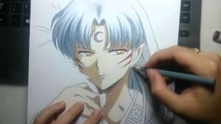 getlinkyoutube.com-Speed Drawing - Sesshoumaru (InuYasha)
