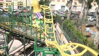 getlinkyoutube.com-Mini Mouse Roller Coaster Credit Whore POV Oasi Park Rome Italy