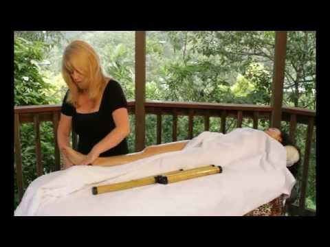 Warm Bamboo Massage Hot Stone Seashell Crystal Kits Techniques Training - How to give