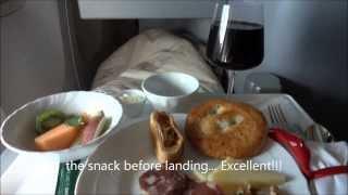 """getlinkyoutube.com-Alitalia Business Class """"Magnifica"""" Rome - Miami"""