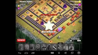 getlinkyoutube.com-hướng dần làm nhiệm vụ cuối cùng của Attack Clash of clan ( Với Bộ Lính hall 7 )