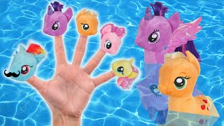 getlinkyoutube.com-MLP Pool Party Finger Family Song | My Little Pony Daddy Finger Nursery Rhyme | MLP Plush Toy Parody