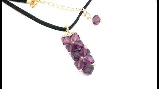 """getlinkyoutube.com-Beading4perfectionists : The """"Workshop beginners pendant"""" I was talking about beading tutorial"""