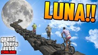 getlinkyoutube.com-CAMINO A LA LUNA!! - Gameplay GTA 5 Online Funny Moments (Carrera GTA V PS4)