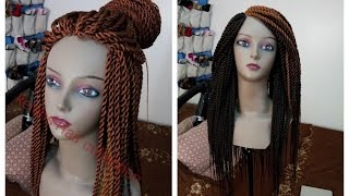 getlinkyoutube.com-Braids Wig (Senegalese/rope twist and box braids).