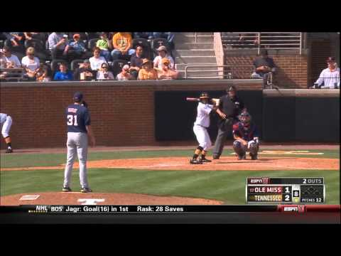04/21/2013 Ole Miss vs Tennessee Baseball Highlights
