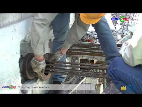 Thi công cáp dự ứng lực – Công trình Samco