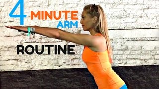 getlinkyoutube.com-4 Minute Toned Arms Workout - you will feel 🔥 it working💪🏽