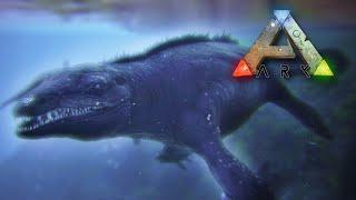 getlinkyoutube.com-Taming & Surviving a HUGE Mosasaur!! - Ark Survival || Ep22