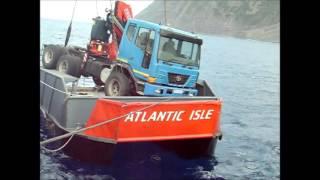 getlinkyoutube.com-Truck Discharge Tristan da Cunha