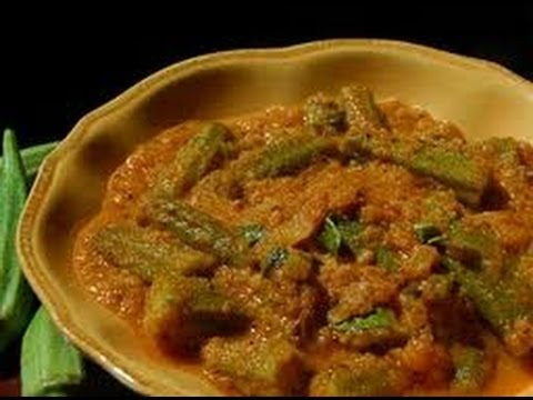 Recipe - Bendakaaya Bajji (Okra Fritters) - Telangana Special - With English Subtitles