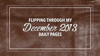 getlinkyoutube.com-Flipping through my December 2013 daily pages