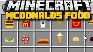 Minecraft: McFood McDonalds Mod (Pepsi, Big Mac and More) 15+ NEW ITEMS - Mod Showcase