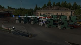 getlinkyoutube.com-Greek Euro truck Simulator 2 Multiplayer Convoy(w/Greek Trans) Bergen - Debrecen