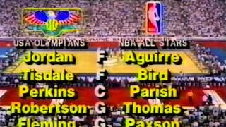 getlinkyoutube.com-Michael Jordan - USA v NBA Stars 1984