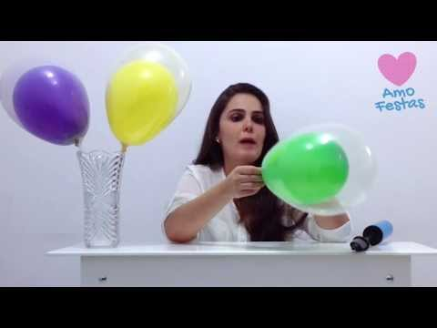 Como colocar um balão dentro do outro - decorações de balões / bexigas