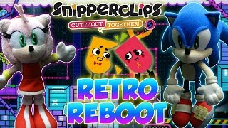 ABM: Sonic & Amy *Retro Reboot* Snipper Clips Gameplay!! HD