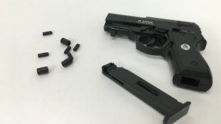 getlinkyoutube.com-Tiny pistol toy gun with shells come out after each shoot