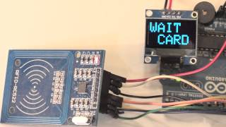 getlinkyoutube.com-Arduino NFC EEPROM электронный ключ RC522 Card Read Module RFID OLED LCD Display