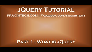 getlinkyoutube.com-What is jQuery