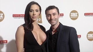 James Deen & Chanel Preston XBIZ Awards 2016 Red Carpet Fashion