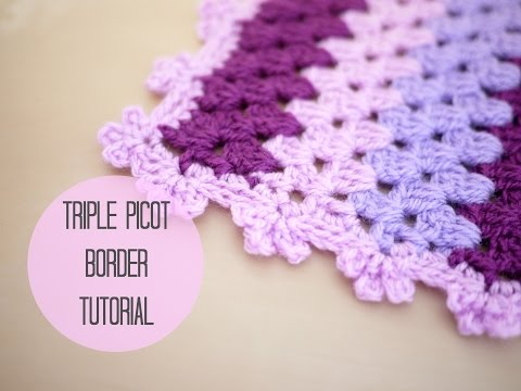 CROCHET: Triple picot border tutorial | Bella Coco