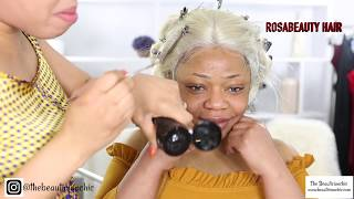 BASIC TO BOMBSHELL HAIR AND MAKEUP TRANSFORMATION POWER OF MAKEUP /ROSABEAUTY HAIR