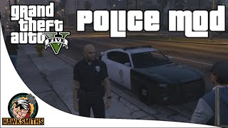 getlinkyoutube.com-Grand Theft Auto V LSPDFR Patrol Day 5 - 0 2 Released: Officer Down