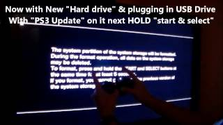 getlinkyoutube.com-HOW TO FIX PS3 - NEW HARD DRIVE & UPDATE INSTALL