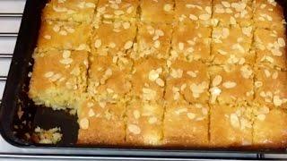 getlinkyoutube.com-مطبخ الاكلات العراقيه - بسبوسه بالقشطه ---  رمضان