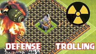 getlinkyoutube.com-Clash Of Clans - EAGLE ARTILLERY TROLL BASE!! (Can't Touch this!!)