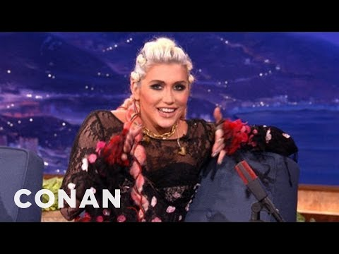 Ke$ha Slept With A Ghost - CONAN on TBS
