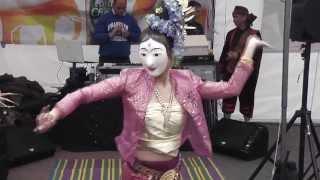 getlinkyoutube.com-Burmese-Style Mask Dance at the Amthai Festival, Kingston Town Centre, London 2013