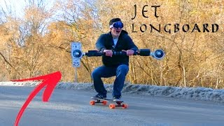 getlinkyoutube.com-HOMEMADE JET POWERED LONGBOARD!!! - 40 Mph