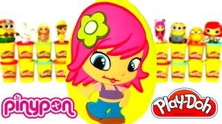 getlinkyoutube.com-Huevo Sorpresa Gigante de PinyPon en Español de Plastilina Play Doh