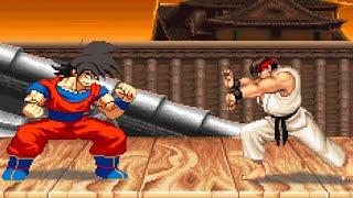 getlinkyoutube.com-DBZ Goku VS Street Fighter 2 : Sprite Animation