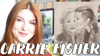 Drawing Carrie Fisher & Debbie Reynolds, Princess Leia // Rad Art with Beth Be Rad   Snarled