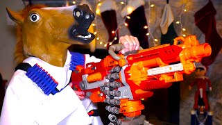 getlinkyoutube.com-Nerf War: CHRISTMAS BATTLE