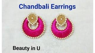getlinkyoutube.com-How to make Chandbali Silk Thread Earrings   Tutorial