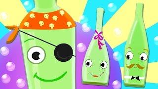 getlinkyoutube.com-TEN GREEN BOTTLES Kids' Song with Lyrics - 100% FUN Nursery Rhyme!